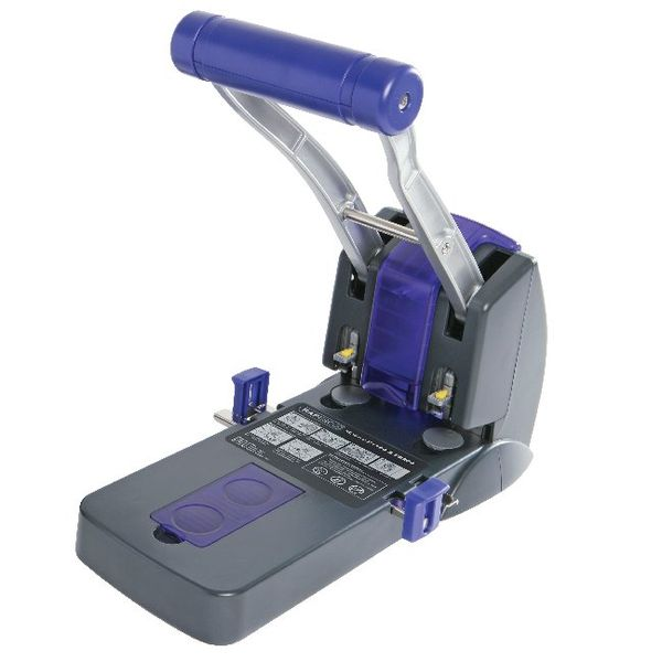 Rapesco Black/Blue 2-Hole Heavy Duty Hole Punch - PF220AP1
