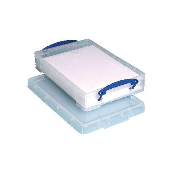 Really Useful 4 Litre Storage Box with Lid - 395x255x80mm - KING4C