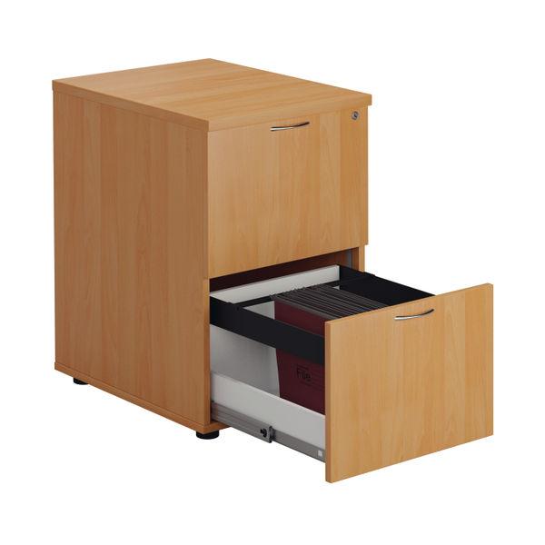 First 730mm Beech 2 Drawer Filing Cabinet