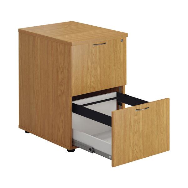 First 730mm Nova Oak 2 Drawer Filing Cabinet