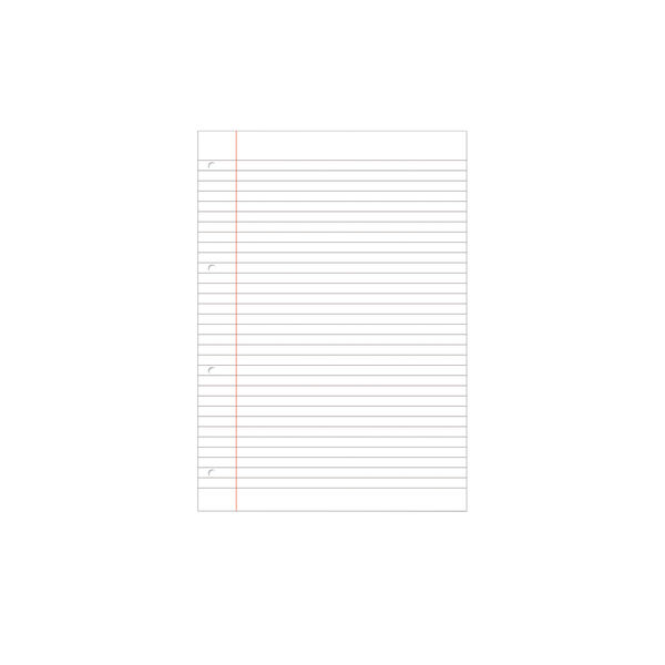 Hamelin 8mm Ruled and Margin A4 Paper Refill Pad, Pack of 5 - 400127670