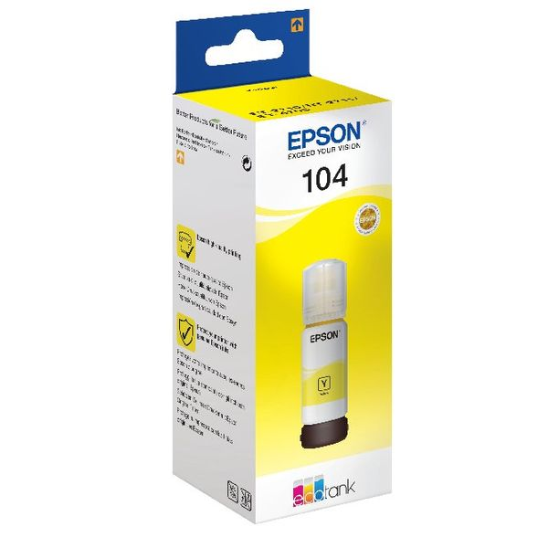 Epson 104 Yellow Ecotank Ink Bottle - C13T00P440