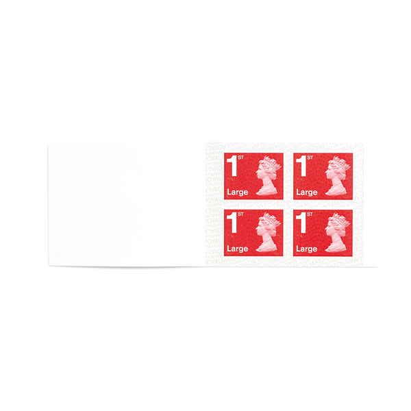 1st Class Large Stamps x 4 Pack (Postage Stamp Booklet) - SB4FL REDSINGLE
