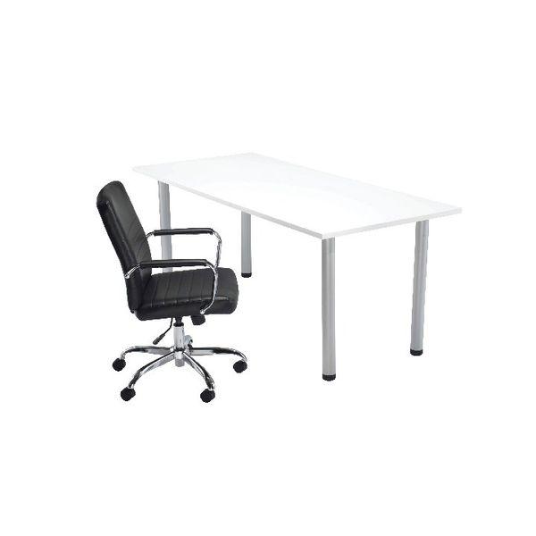 Jemini 1800mm White Rectangular Meeting Table