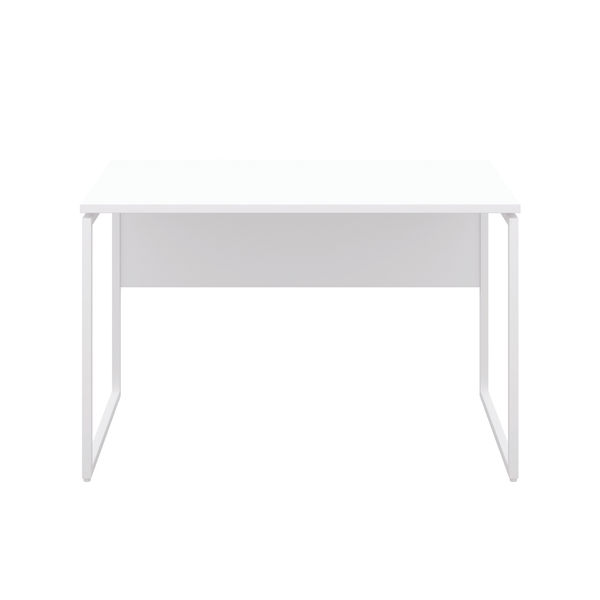 Jemini Soho White/White Square Leg Desk