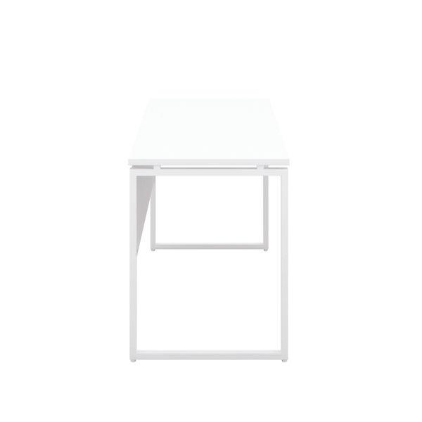 Jemini Soho White/White Square Leg Desk