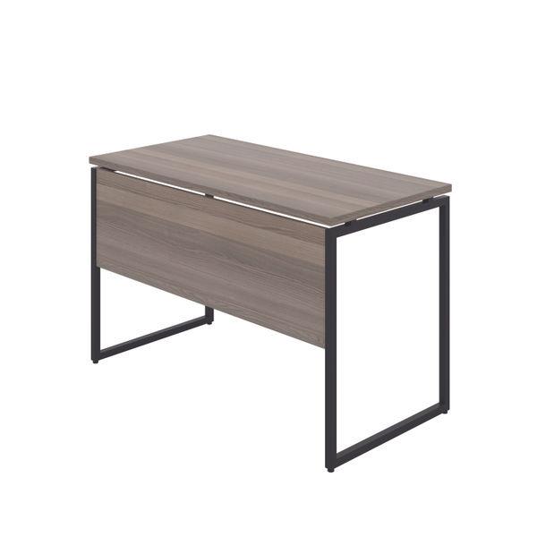 Jemini Soho Grey Oak/Black Square Leg Desk