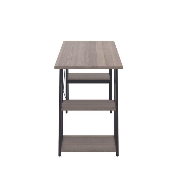 Jemini Soho Grey Oak/Black Angled Shelves Desk