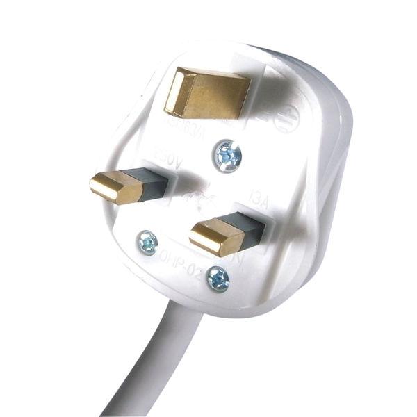 Connekt Gear 5m 6-Way Surge Protection Extension Lead White 27-6050S