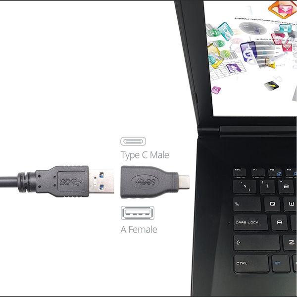 Connekt Gear USB 3 Adapter Type C Male to A Female + OTG Black 26-0430