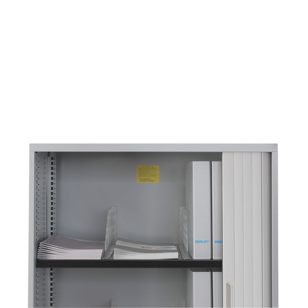 Bisley Clear Plastic Shelf Dividers, Pack of 5 - SHDC85P5PS