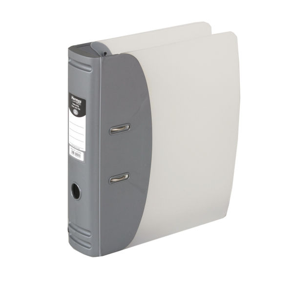 Hermes Silver A4 Heavy Duty Lever Arch File, 80mm - 832006