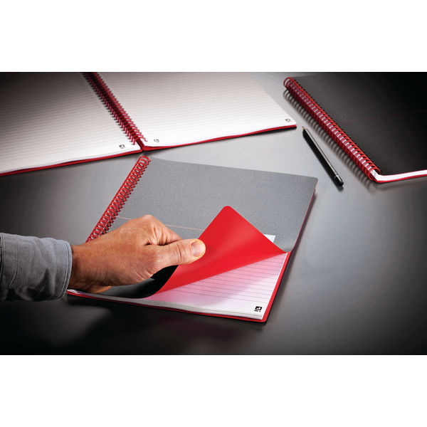 Black n Red Polypropylene A6 Notebooks - Pack of 5 - 100080476