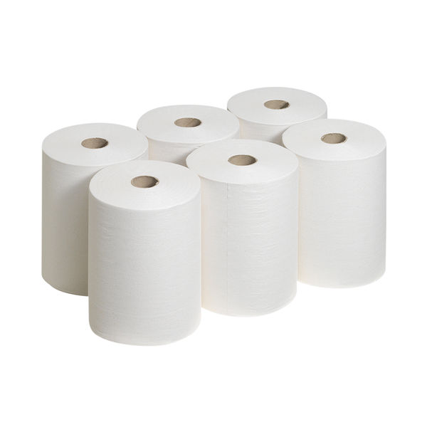 Scott 1-Ply Slimroll Hand Towel Roll White (Pack of 6) 6657