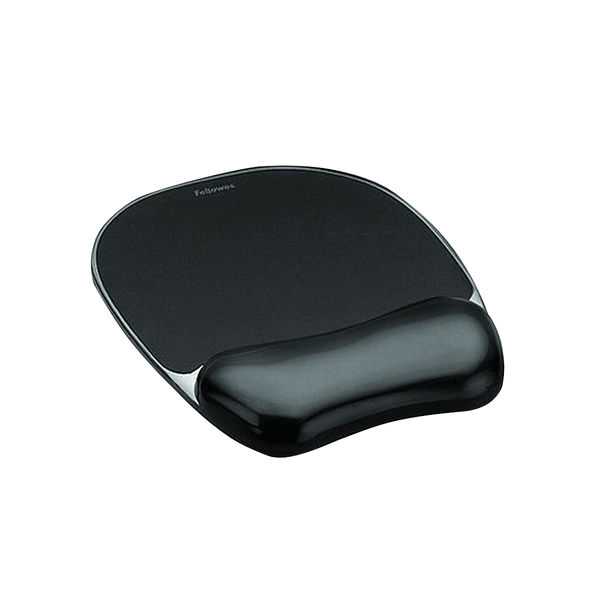 Fellowes Crystals Gel Mouse Pad Black 9112101