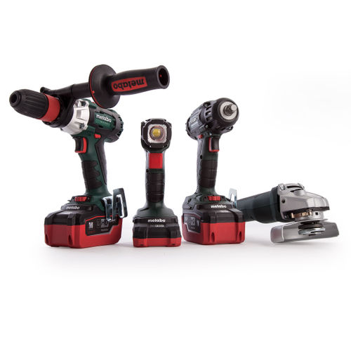 Metabo 691015000 Cordless 18V Metall Combo Set 4 Piece LiHD (2 x 5.5Ah + 1 x 3.1Ah Batteries)