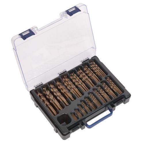 Sealey DBS170CB HSS Cobalt Fully Ground Drill Bit Assortment 1 - 10mm (170 Piece)