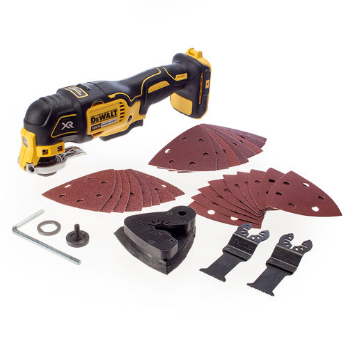 Dewalt DCS355N Oscillating Multi-Tool 18V li-ion Cordless Brushless (Body Only) with 29 Accessories