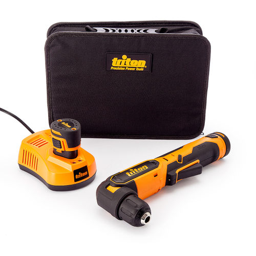 Triton T12AD Angle Drill 12V (104207) (2 x 1.5 Batteries)