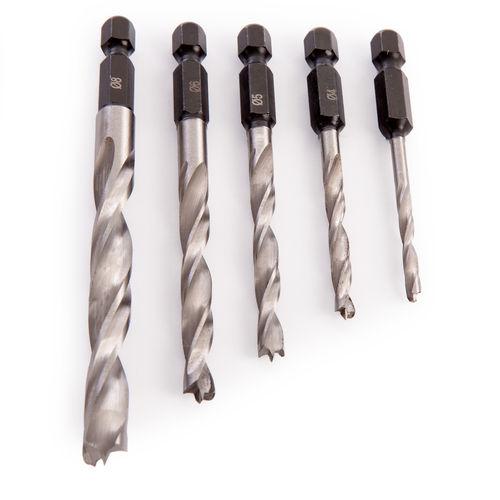 Trend SNAP/WTD1/SET Snappy Wood Twist Drill Set 5 Piece