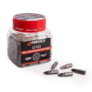 Abracs PZ2100 25mm PZ2 Screwdriver Bit Set (100 Pieces)