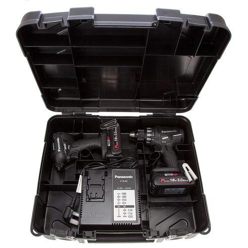 Panasonic EYC215PN2G31 Cordless 18V Drill Driver / Impact Driver Twinpack (2 x 3.0Ah Batteries)