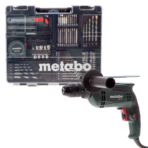 Metabo SBE650 Impact Drill with Mobile Workshop 72 Piece 240V