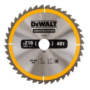 Dewalt DT1953 Construction Circular Saw Blade 216mm x 30mm x 40T