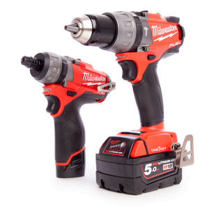 Milwaukee M18ONEPP2O-523X M18 ONE KEY Combi+M12 FUEL Driver Twin Pack (2 x 5.0Ah + 1 x 2.0Ah Batteries)