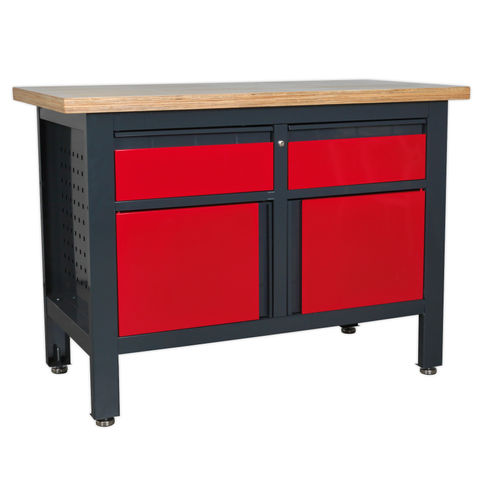 Sealey AP1372A Workstation With 2 Drawers & 2 Cupboards