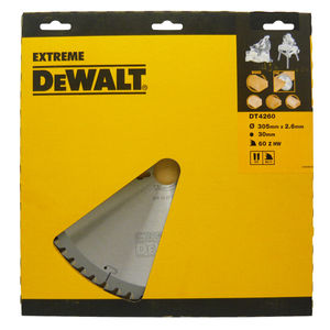 Dewalt DT4260 Mitre Saw Blade 305mm x 30mm Bore 60 Teeth