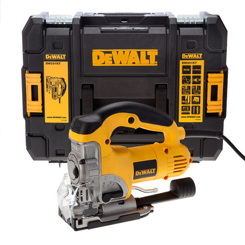 Dewalt DW331KT Jigsaw 701 Watt Heavy Duty Top Handle with TStak Box 110V