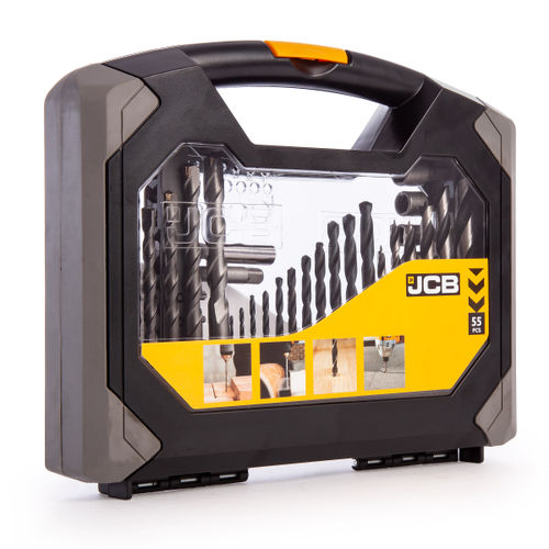 JCB 37957 Combination Drill & Bit Set 55 Piece