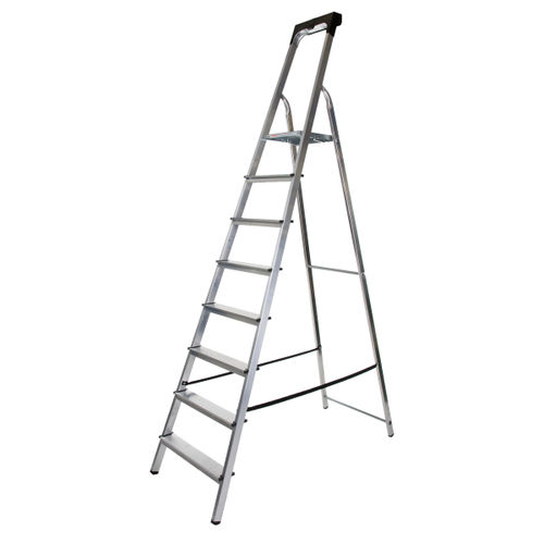 Werner 74108 High Handrail Stepladder With Tool Tray 8 Tread (1.75m)