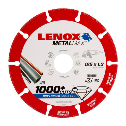 Lenox 2030866 MetalMax Diamond Cut Off Wheel 125mm x 1.3mm x 22.23mm