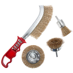 Abracs Spindle Mounted and Scratch Brush Pack 4 Piece