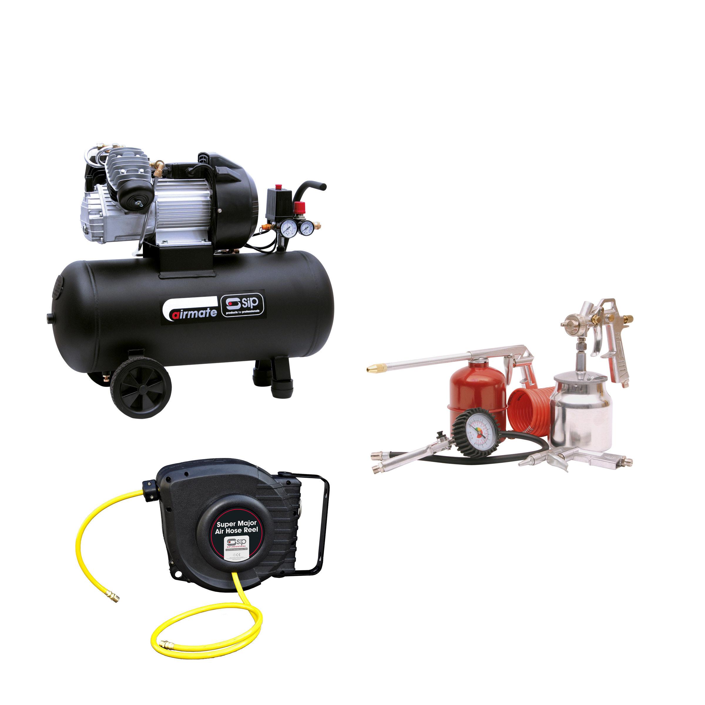 6e45bab7a62 Toolstop SIP 06242TS Airmate TN3.0 50-D Compressor With 04947 5 ...