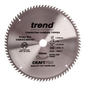 Trend CSB/CC30578T CraftPro Saw Blade Crosscut 305mm x 78 Teeth x 30mm