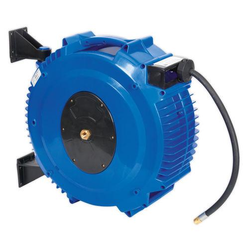 Sealey SA88 Retractable Air Hose Reel 20mtr ∅10mm Id Tpr Hose