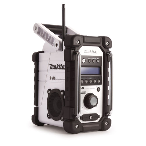 Makita DMR104W White Job Site Radio Stereo with DAB and FM (Replaces BMR104W)