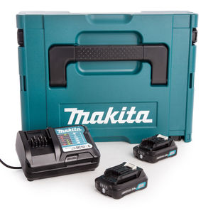 Makita 197646-2 CXT 10.8V Battery & Charger Set in Makpac Case (2 x 2.0Ah Batteries)