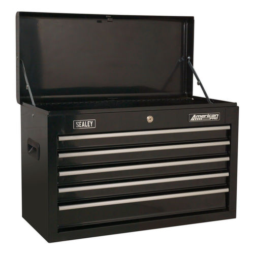 Sealey AP225B Topchest 5 Drawer With Ball Bearing Slides - Black