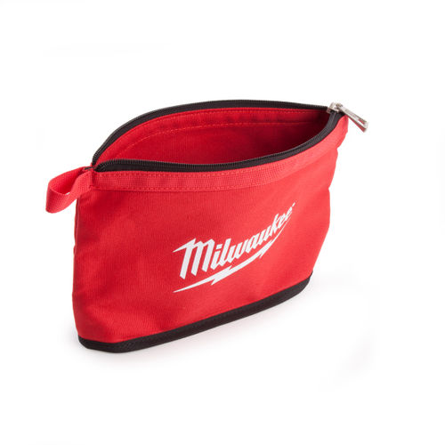 Milwaukee Zippered Contractors Pouch with Red Flashing