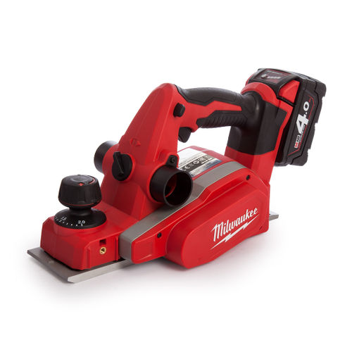 Milwaukee M18 BP Planer Charger and Case (2 x 4.0Ah Batteries)