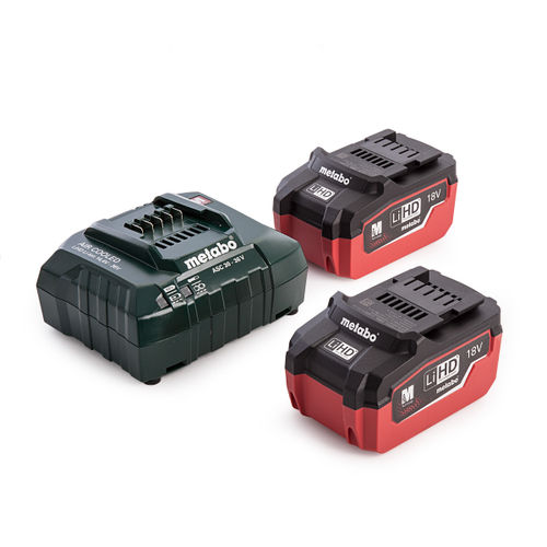 Metabo 685122000 18V Basic Set with Inlay (2 x 5.5Ah LiHD Batteries)