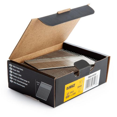 Dewalt DNBA1632-GZ 16GA Brad Finish Nail 20 Deg Galvanised 32mm (Pack of 2500)
