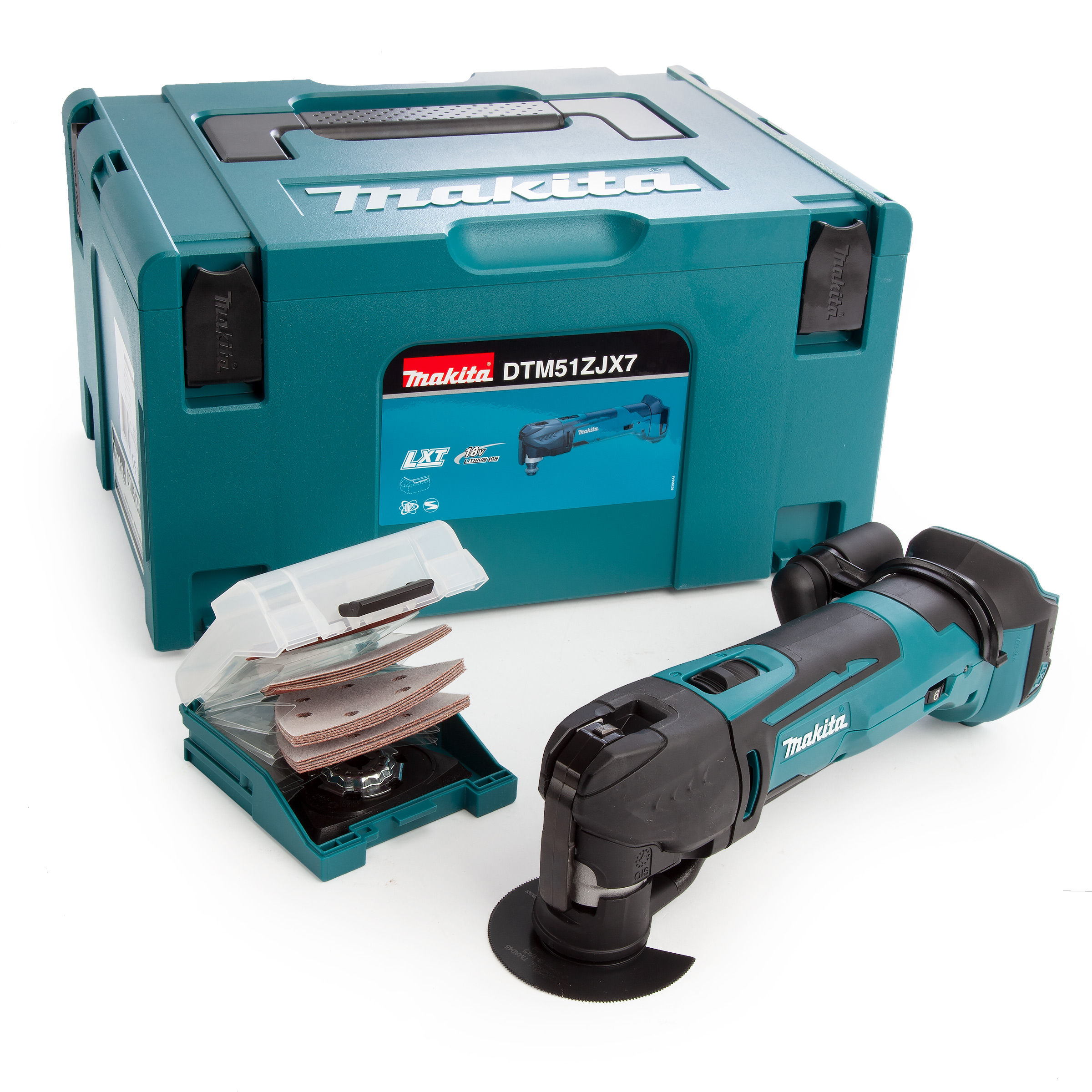 Makita DTM51ZJX7 Multi-tool Cordless 18V with Accessories in Makpac Case  (Body Only)