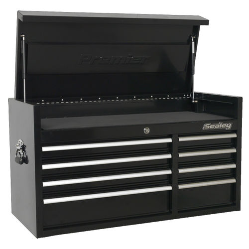 Sealey PTB104008 Topchest 8 Drawer 1040mm Heavy-Duty Black