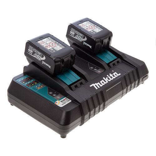 Makita DC18RD Twin Charger + 2 x BL1830B 18V 3.0Ah Batteries