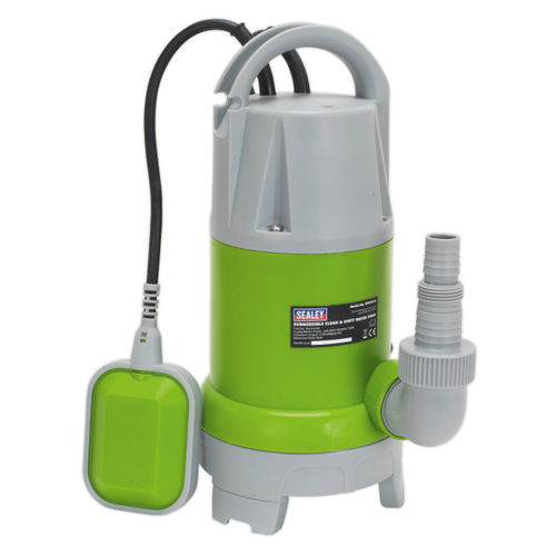 Sealey WPCD215 Submersible Clean & Dirty Water Pump Automatic 217ltr/min 240V